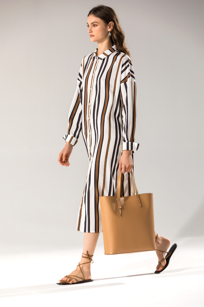 Vestido camillero rayas Naulover